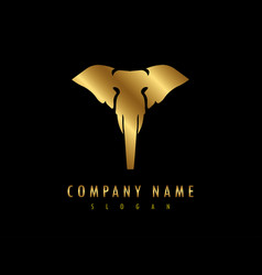 Elephant logo black background vector