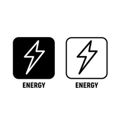 energy icon bolt lighting power electric vector image