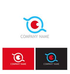 eye optic round logo vector image