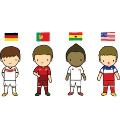 FIFA 2014 Football Players Group G vector image