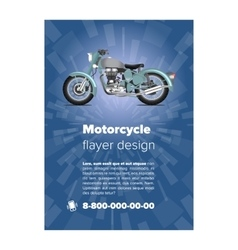 Flayer or placard with motorcycle vector image