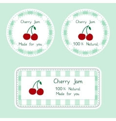 Fruit collection for design Labels for homemade vector