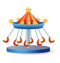 Funny carousel icon cartoon style vector