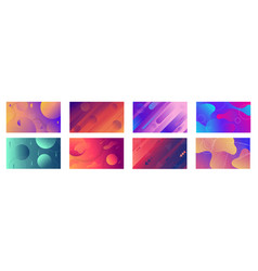 geometric gradient background vector image