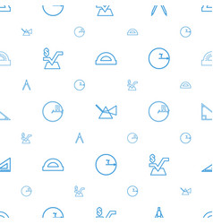 Geometry icons pattern seamless white background vector