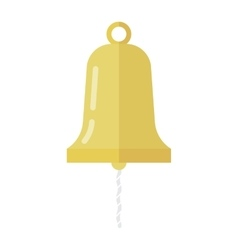 Golden ship bell vector image
