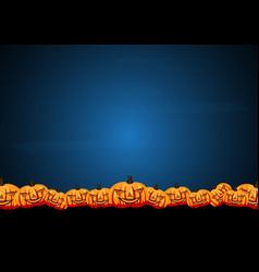 Halloween pumpkin graveyard grass vector