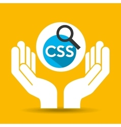 Hand optimization technology css language web vector