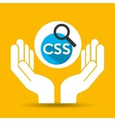Hand optimization technology css language web vector