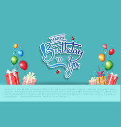 Happy birthday design with party element isolated vector