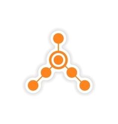 Icon sticker realistic design on paper local vector