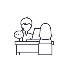 individual consultation line icon concept vector image