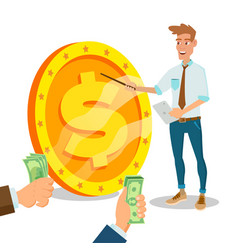 innovative start up monetization project vector image