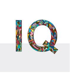 Iq hand drawn abbreviation vector