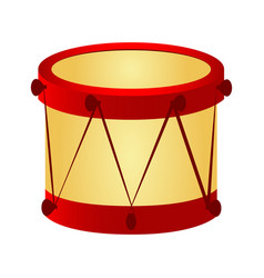 isolated drum toy vector image