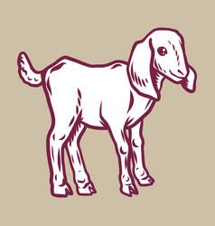 lamb icon hand drawn style vector image