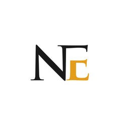 letter ne creative abstract business logo vector image