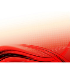 light with stripes red background vector image
