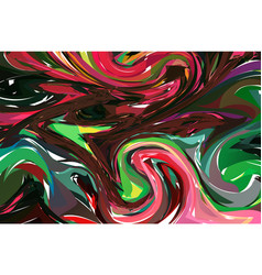 Luxury coloful dark marble background with swirls vector
