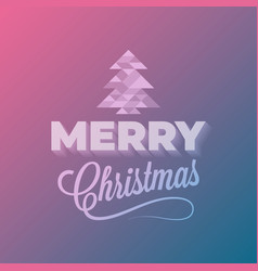merry christmas event vintage lettering abstract vector image