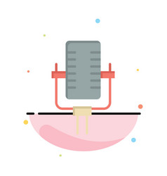 microphone multimedia record song abstract flat vector image