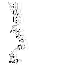 Music chords and shadow rounded corner vertical vector image
