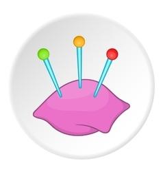 Needle bar icon flat style vector