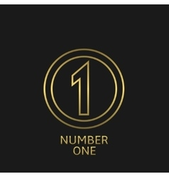 Number one icon vector image