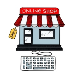 Online internet shop sale icon vector image