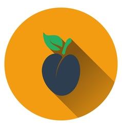 Plum icon vector