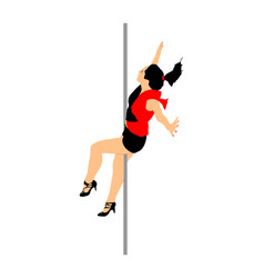 Pole dancer girl sexy women striptease event vector