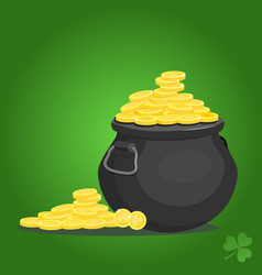 Pot of goldcartoon style vector