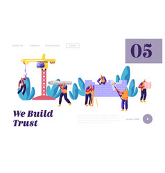 professional team builder in uniform in process vector image