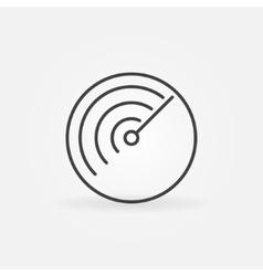 Radar logo or icon vector