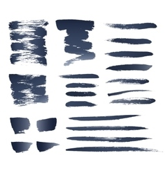 Realistic Brushes vector image