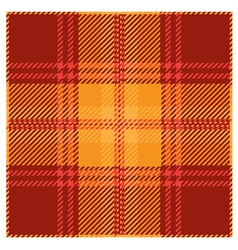 Red Tartan Plaid Pattern Design vector image