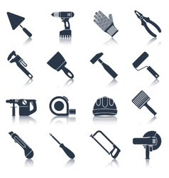 Repair construction tools black vector image
