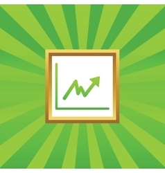 Rising graphic picture icon vector