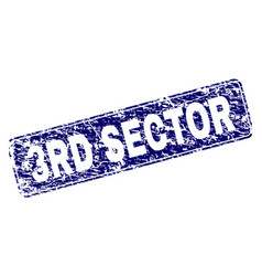 Scratched 3rd sector framed rounded rectangle vector