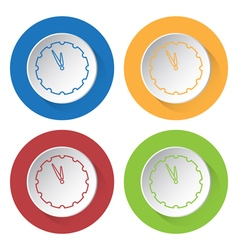 set of four icons - last minute clock vector image
