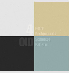 Set old clean seamless pattern with dirty vector