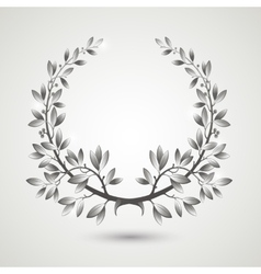 Silver laurel wreath vector