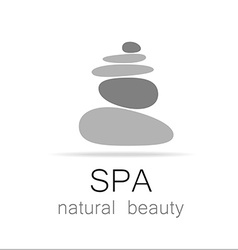Spa natural beauty logo template vector