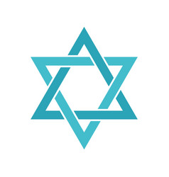 star of david icon flat style vector image
