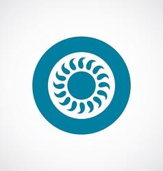 Sun icon bold blue circle border vector
