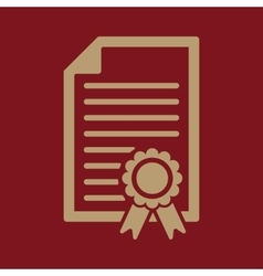 The diploma icon Certificate symbol Flat vector