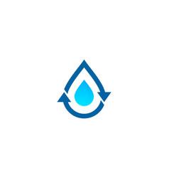 Transfer water logo icon design vector