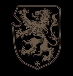 vintage knight heraldic royal emblem a medieval vector image