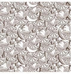 vintage orange seamless pattern vector image