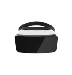 vr glasses black and white virtual reality vector image